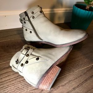 Halogen Studded Ankle Booties
